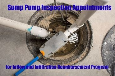 sump pump inspection appointments