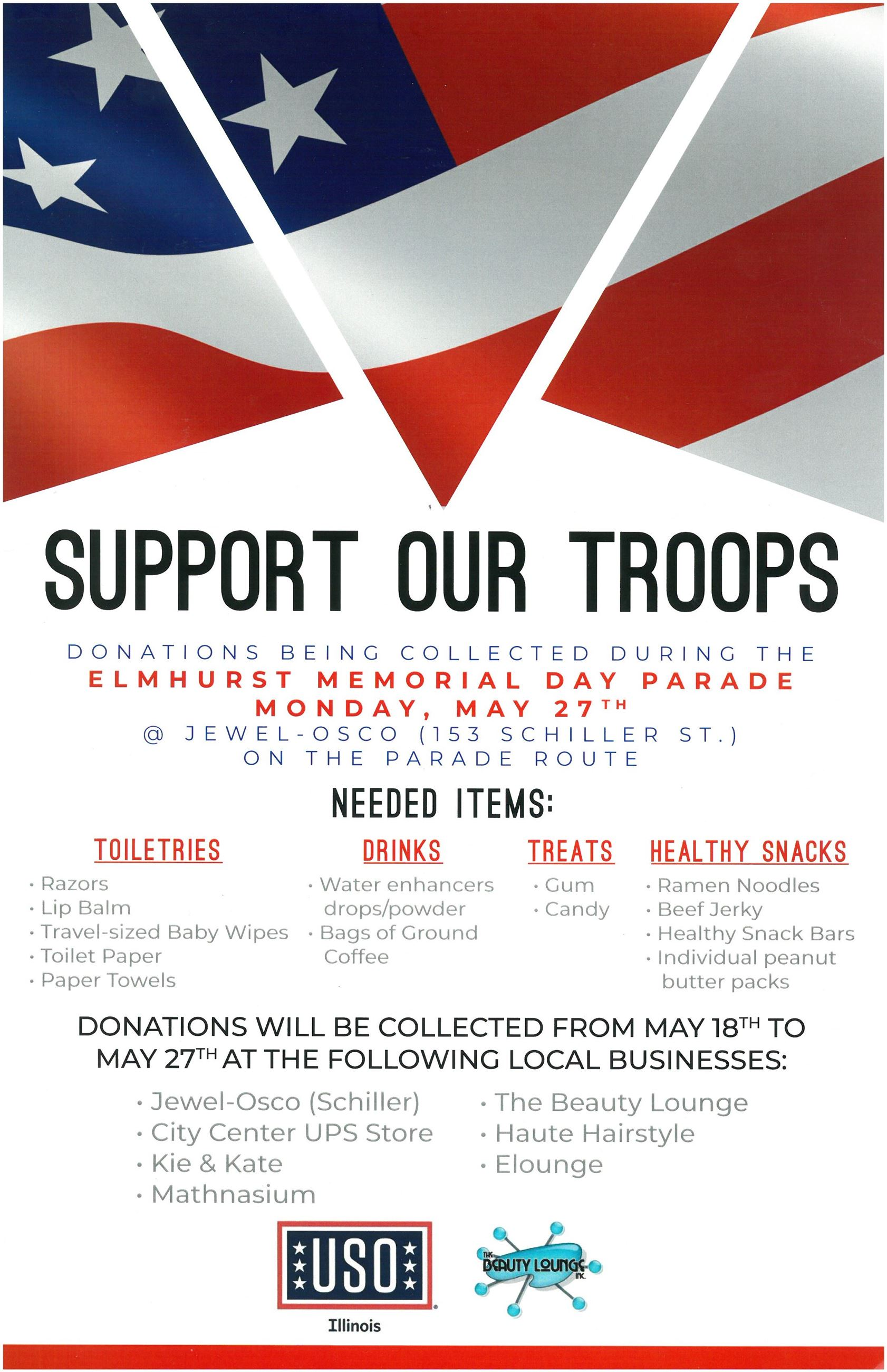 Support Our Troops Flyer
