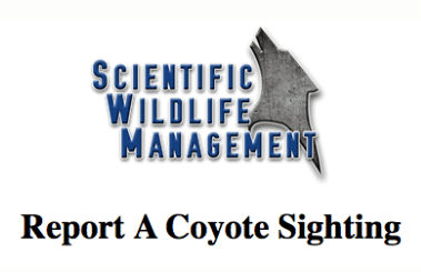 Report Coyote Sightings