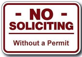 No Soliciting without Permit