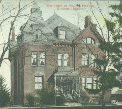 Residence of Mrs. M. Fischer, 203 S. York (1891), EHM Collection