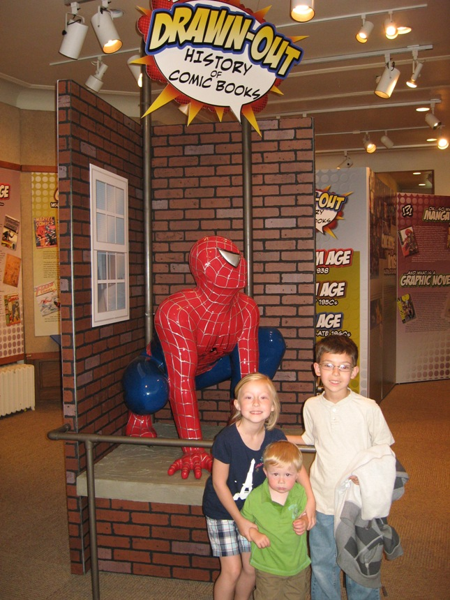 Visitors enjoy their time with Spider-Man